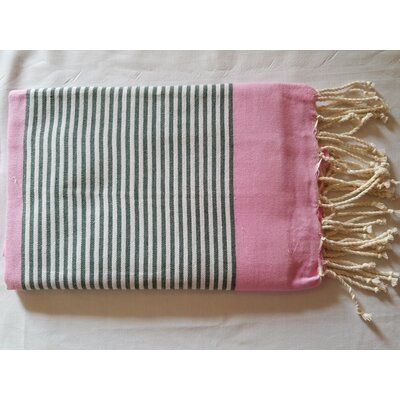 Hand Woven Cotton Bath Sheet Color: Pink