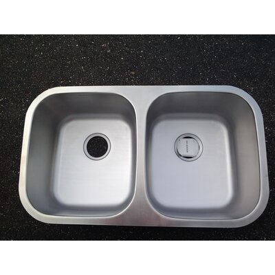33.75 X 18.5 Double Bowl Undermount Kitchen Sink