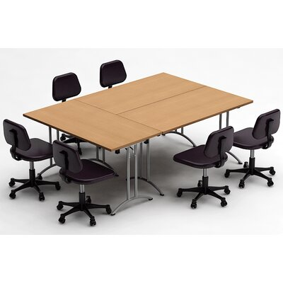 Meeting Seminar 3 Piece Combo 7.5 Rectangular Conference Table Top Finish: Natural Beech