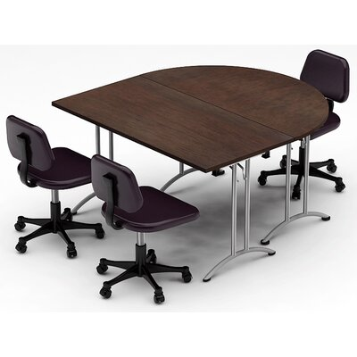 Meeting Seminar 2 Piece Half-Round 30H x 60W x 60L Conference Table Set Set Top Finish: Java