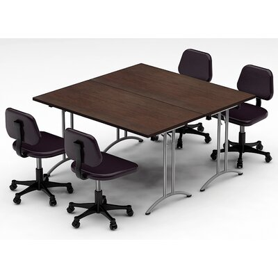 Meeting Seminar 2 Piece Combo 5 Square Conference Table Top Finish: Java