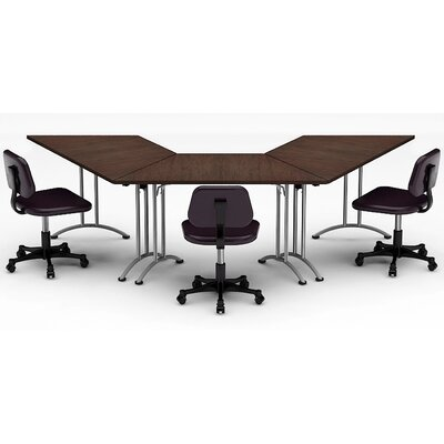Meeting Seminar 3 Piece Angled 30H x 30W x 120L Conference Table Set Top Finish: Java