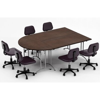 Meeting Seminar 3 Piece Combo 7.5 Half-Round Conference Table Top Finish: Java