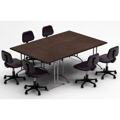 Meeting Seminar 3 Piece Rectangular 30H x 60W x 90L Conference Table Set Top Finish: Java
