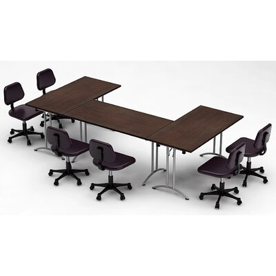 Meeting Seminar 3 Piece Combo 10 Rectangular Conference Table Top Finish: Java