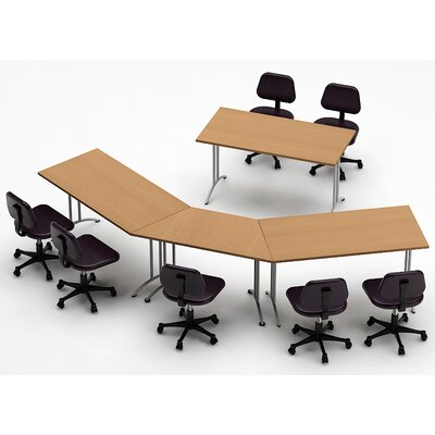 Meeting Seminar 4 Piece 30H x 90W x 150L Conference Table Set Top Finish: Natural Beech
