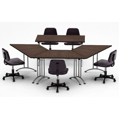 Meeting Seminar 4 Piece Angled 30H x 90W x 120L Conference Table Set Top Finish: Java