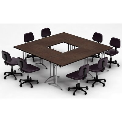 Meeting Seminar 4 Piece Square 30H x 90W x 90L Conference Table Set Top Finish: Java