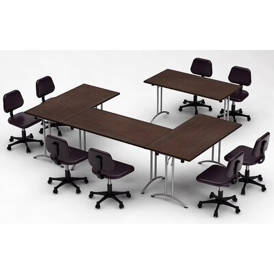Meeting Seminar 4 Piece Rectangular 30H x 120W x 120L Conference Table Set Top Finish: Java