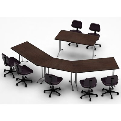 Meeting Seminar 4 Piece 30H x 90W x 150L Conference Table Set Top Finish: Java
