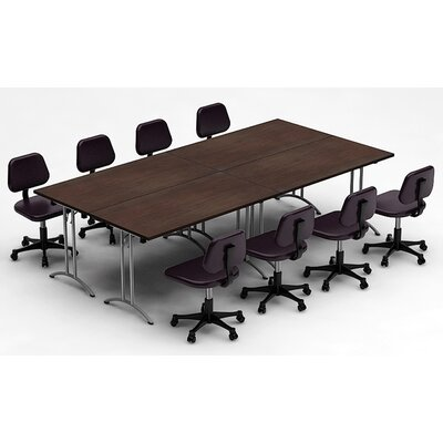 Meeting Seminar 4 Piece Combo 10 Rectangular Conference Table Top Finish: Java