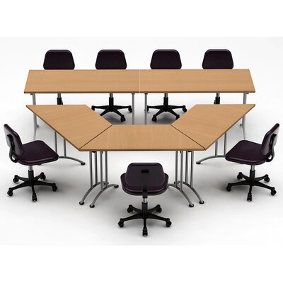 Meeting Seminar 5 Piece Combo 10 Conference Table Top Finish: Natural Beech