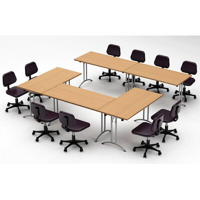 Meeting Seminar 5 Piece Combo 10 Rectangular Conference Table Top Finish: Natural Beech
