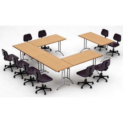 Meeting Seminar 5 Piece Rectangular 30H x 120W x 150L Conference Table Set Top Finish: Natural Beech