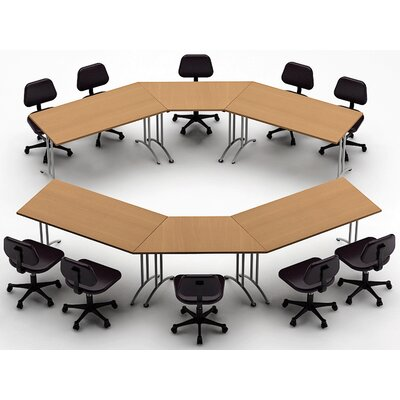 Meeting Seminar 6 Piece 30H x 150W x 150L Conference Table Set Top Finish: Natural Beech