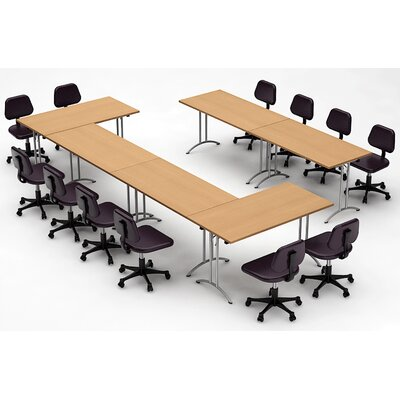 Meeting Seminar 6 Piece Rectangular 30H x 120W x 180L Conference Table Set Top Finish: Natural Beech