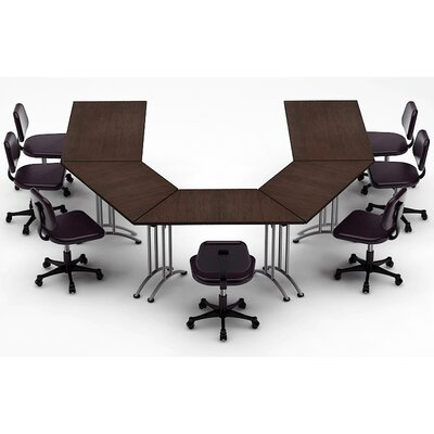 Meeting Seminar 5 Piece Combo 10 U-Shape Conference Table Top Finish: Java