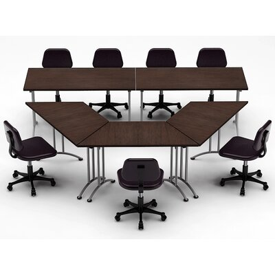 Meeting Seminar 5 Piece 30H x 120W x 120L Conference Table Set Top Finish: Java