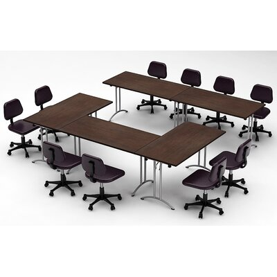 Meeting Seminar 5 Piece Combo 10 Rectangular Conference Table Top Finish: Java