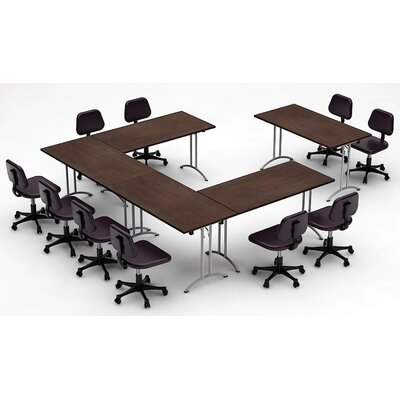Meeting Seminar 5 Piece Combo 12.5 Rectangular Conference Table Top Finish: Java