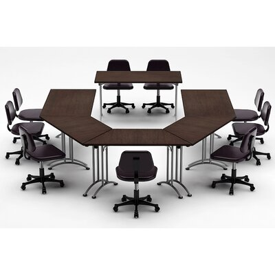 Meeting Seminar 6 Piece Half-Round 30H x 120W x 180L Conference Table Set Top Finish: Java