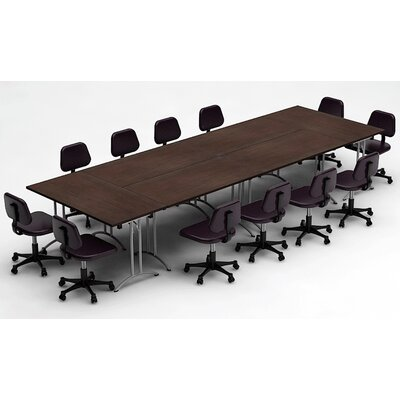 Meeting Seminar 6 Piece Combo 15 Rectangular Conference Table Top Finish: Java