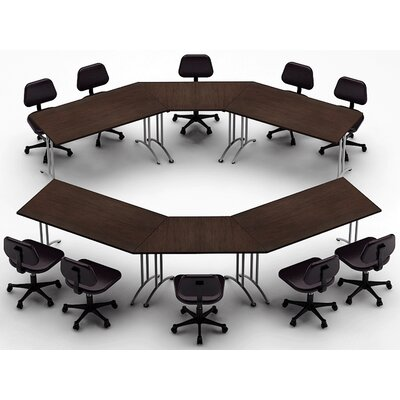 Meeting Seminar 6 Piece 30H x 150W x 150L Conference Table Set Top Finish: Java