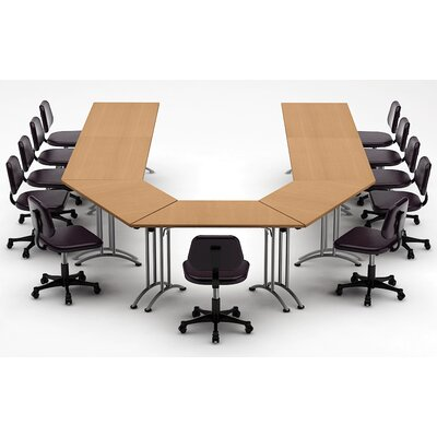 Meeting Seminar 7 Piece Combo 15 U-Shape Conference Table Top Finish: Natural Beech