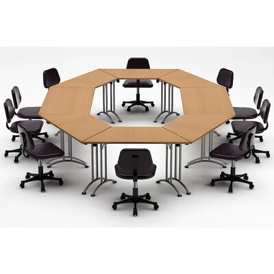 Meeting Seminar 8 Piece Combo 15 Circular Conference Table Top Finish: Natural Beech