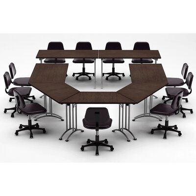 Meeting Seminar 7 Piece Combo 15 U-Shape Conference Table Top Finish: Java