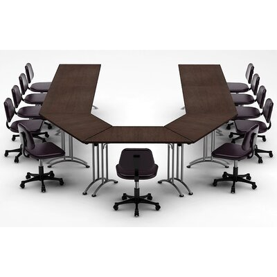 Meeting Seminar 7 Piece U-Shape 30H x 120W x 180L Conference Table Set Top Finish: Java