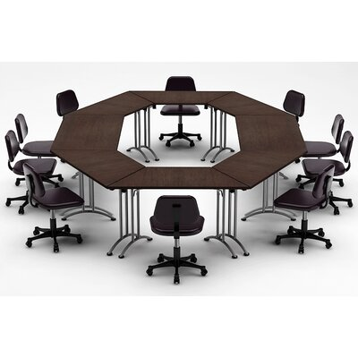 Meeting Seminar 8 Piece Circular 30H x 120W x 180L Conference Table Set Top Finish: Java
