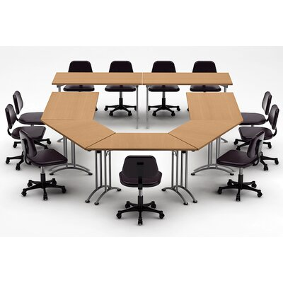 Meeting Seminar 7 Piece U-Shape 30H x 120W x 180L Conference Table Set Top Finish: Natural Beech