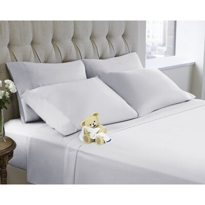 6 Piece Sheet Set Color: Bright White, Size: King