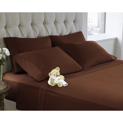6 Piece Sheet Set Color: Marsala, Size: Queen
