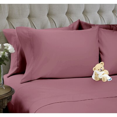 6 Piece Sheet Set Color: Mellow Mauve, Size: Queen