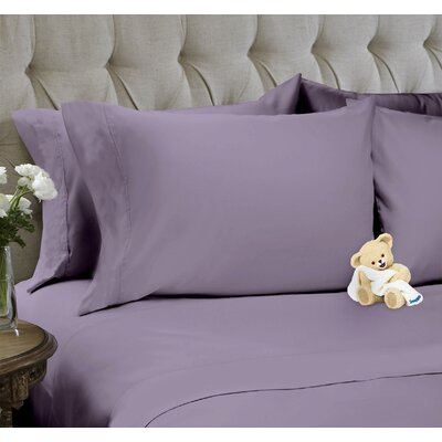 6 Piece Sheet Set Color: Purple Ash, Size: King