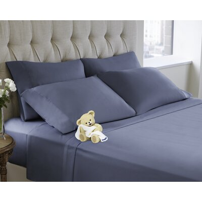 6 Piece Sheet Set Color: Faded Denim, Size: King