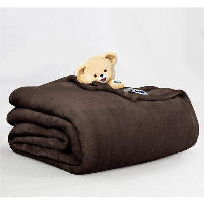 Throw Blanket Size: Full/Queen, Color: Chocolate