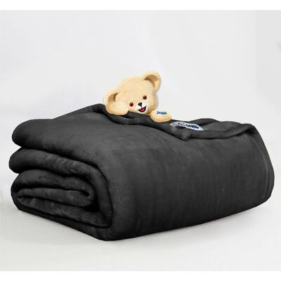 Throw Blanket Size: King, Color: Black