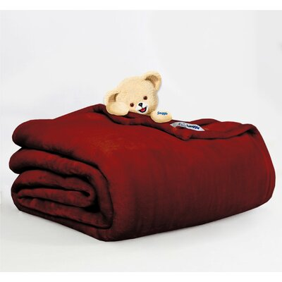 Throw Blanket Size: Twin, Color: Berry