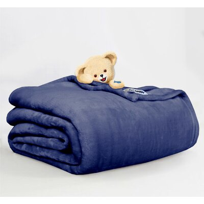 Throw Blanket Size: Full/Queen, Color: Navy