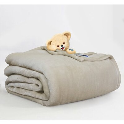 Throw Blanket Size: Twin, Color: Sand