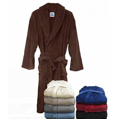 Super Plush Ultra Lux Bathrobe Color: Chocolate