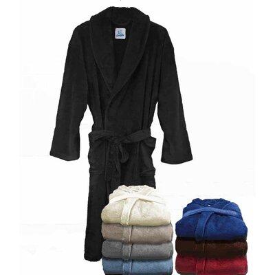 Super Plush Ultra Lux Bathrobe Color: Black
