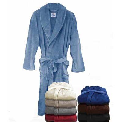 Super Plush Ultra Lux Bathrobe Color: Denim Blue