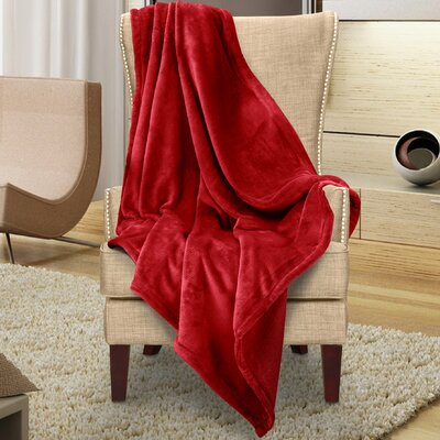 Karnak Ultra Lux Solid Throw Color: Berry