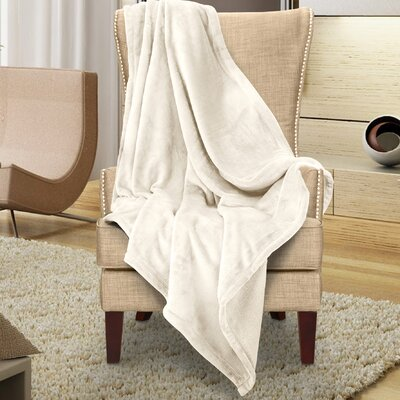 Karnak Ultra Lux Solid Throw Color: Sand