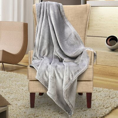 Karnak Ultra Lux Solid Throw Color: Wet Weather