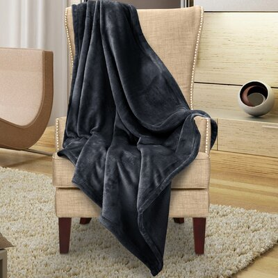 Karnak Ultra Lux Solid Throw Color: Black